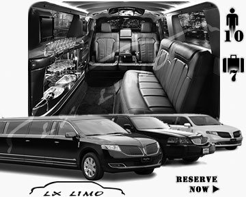 Stretch Limo airport shuttle in Charlotte